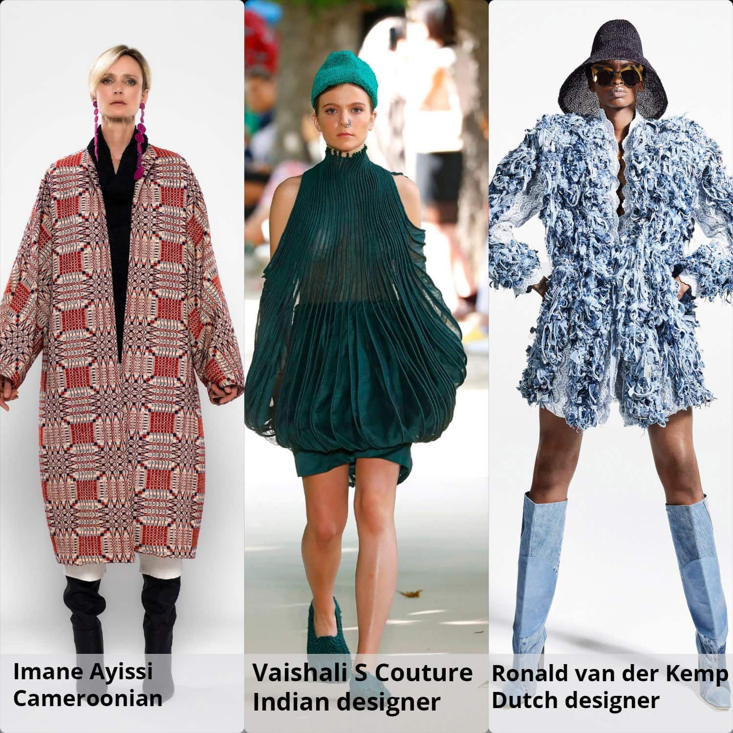 Haute Couture Fall Winter 2021-2022 Ronald van der Kemp (Dutch), Imane Ayissi (Cameroonian), Vaishali S Couture (Indian) by RUNWAY MAGAZINE