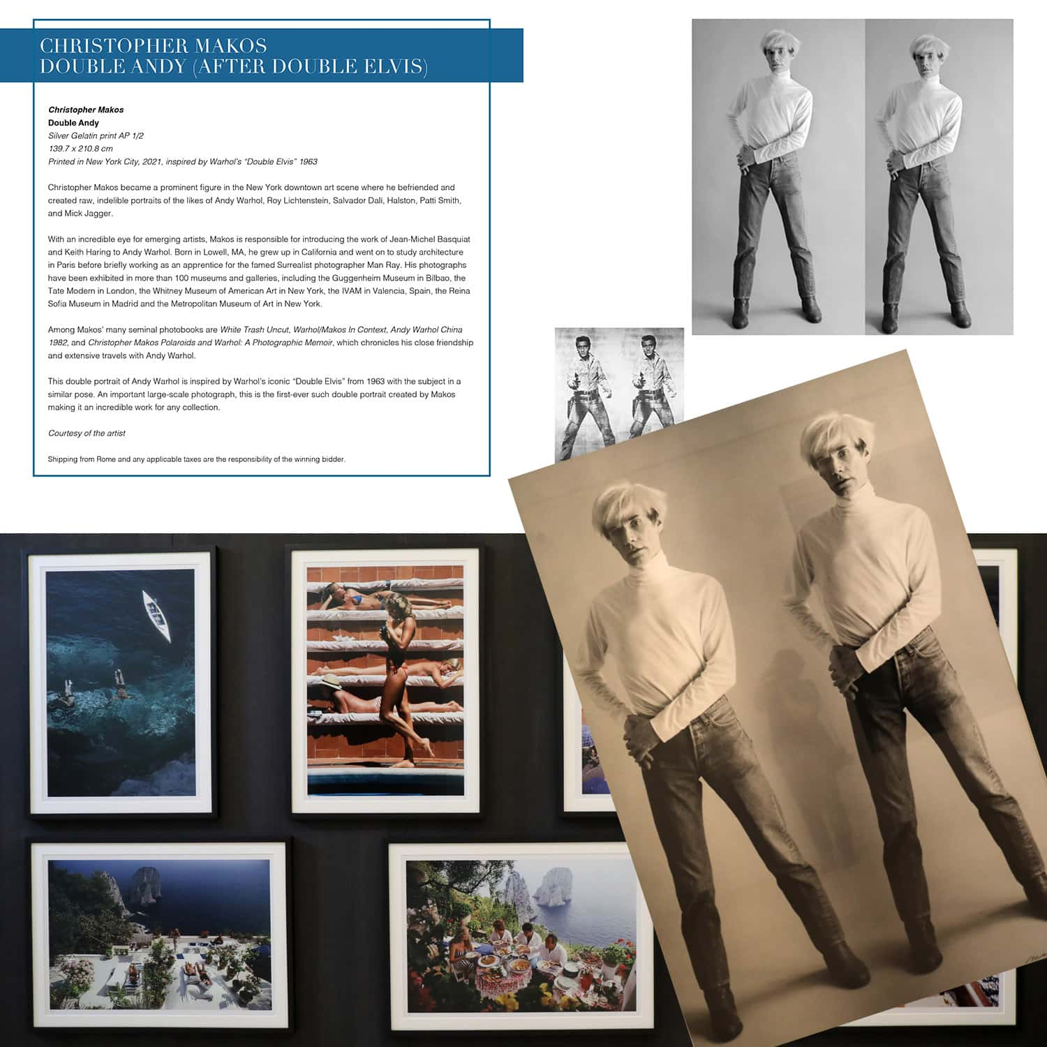 Christopher Makos - Double Andy for Unicef auction, Capri July 31, 2021 by RUNWAY MAGAZINE