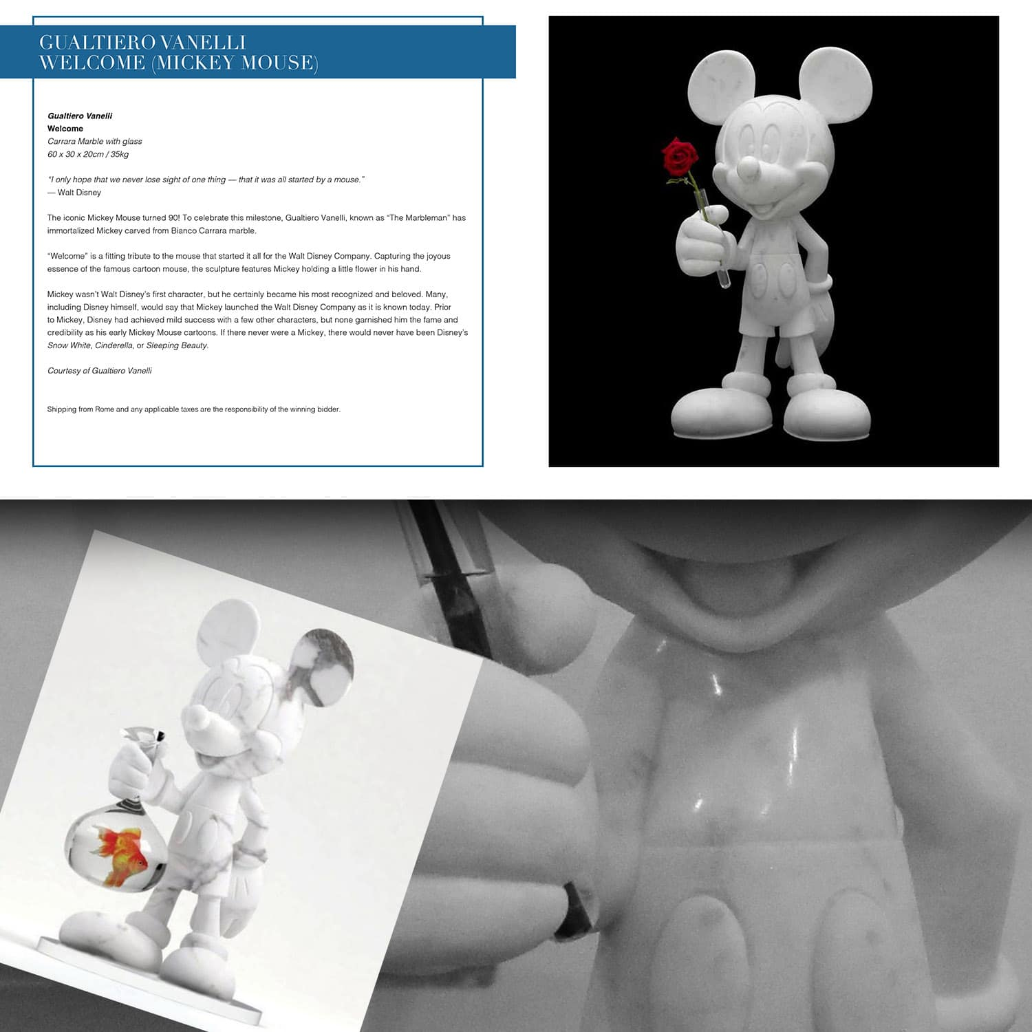 Gualtiero Vanelli Mickey Mouse for Unicef auction, Capri July 31, 2021 by RUNWAY MAGAZINE
