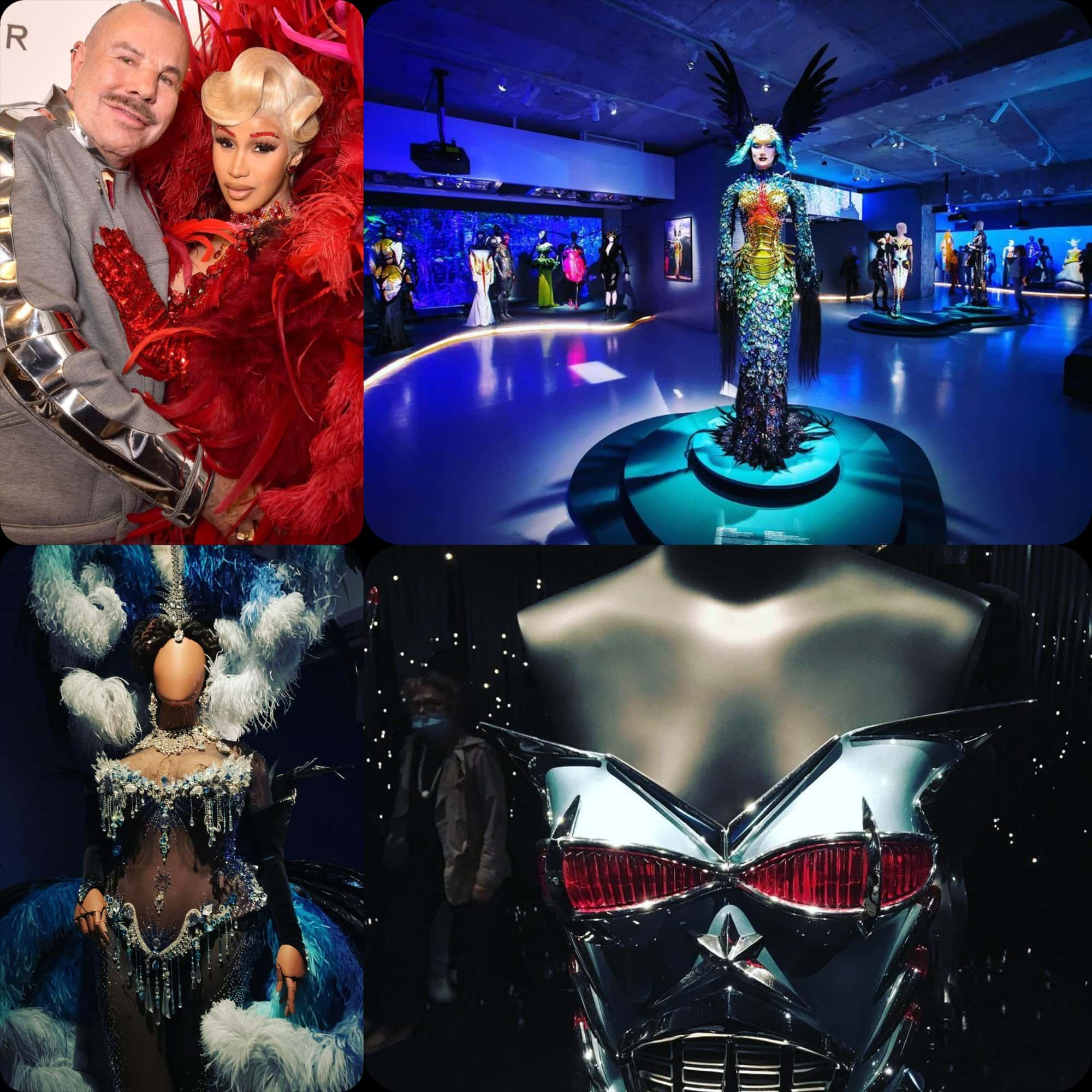 Thierry Mugler and Cardi B at COUTURISSIME expo at MAD Paris by RUNWAY MAGAZINE