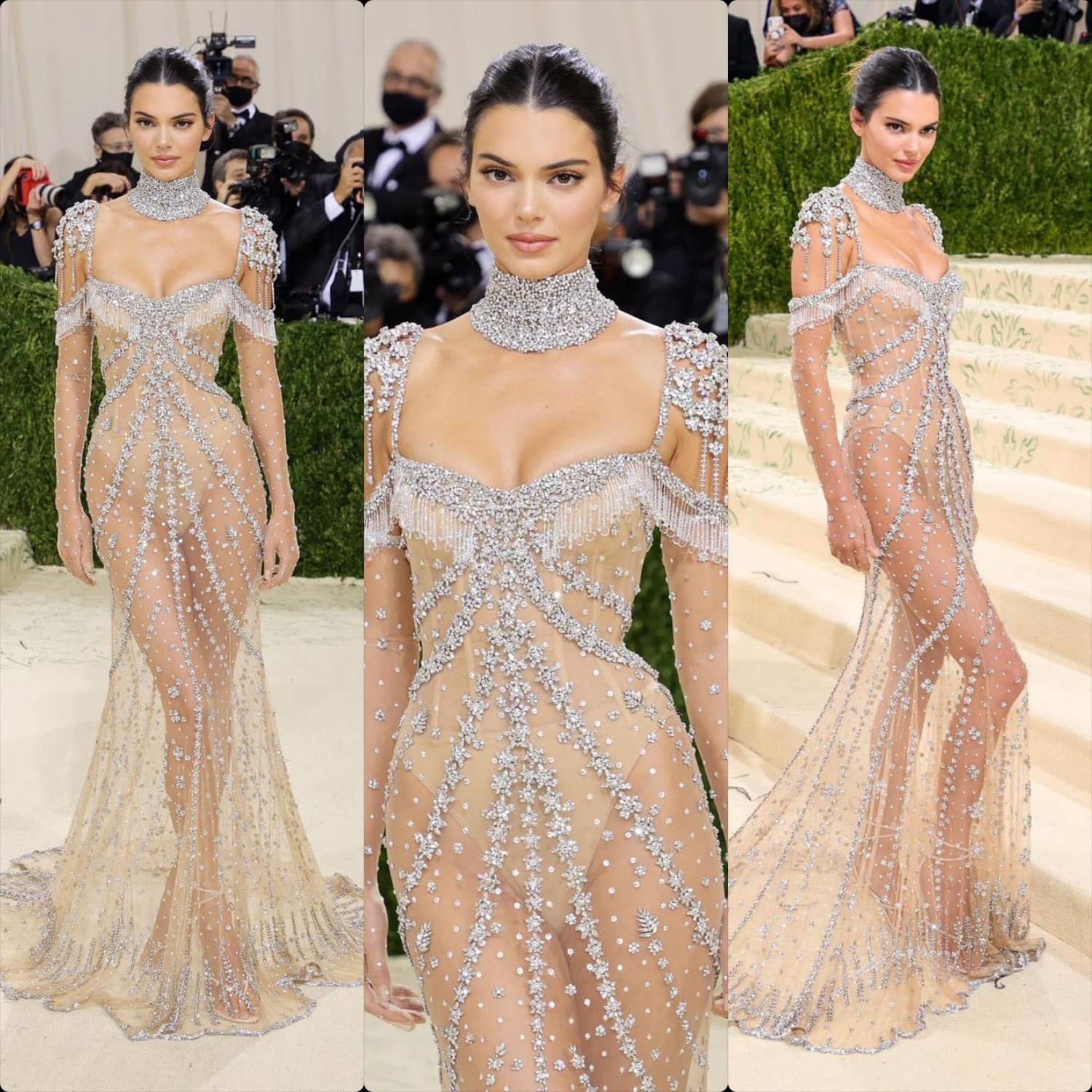 Kendall Jenner in Givenchy at Met Gala 2021 by RUNWAY MAGAZINE
