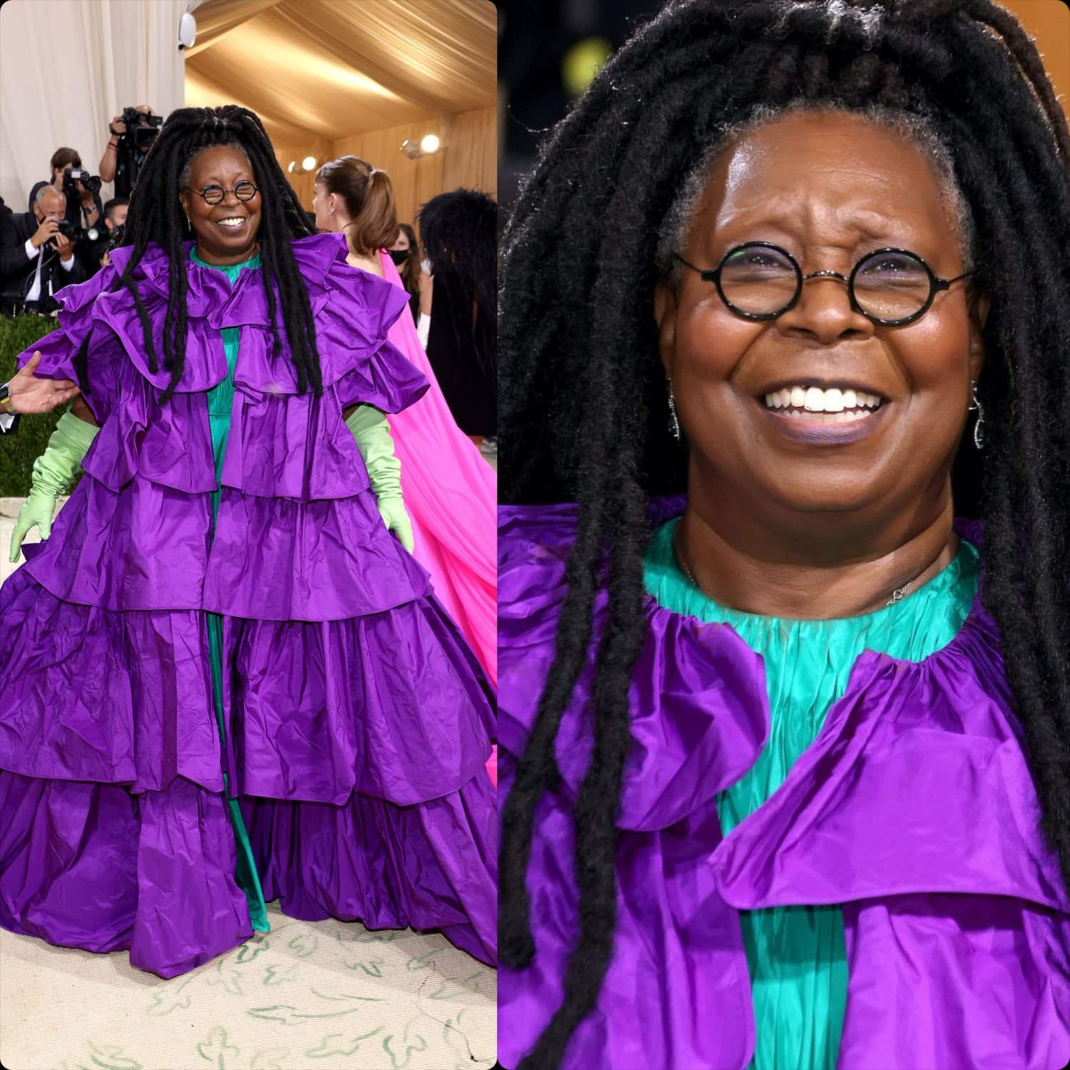 Whoopi Goldberg in Valentino with Pierpaolo Piccioli at Met Gala 2021 by RUNWAY MAGAZINE